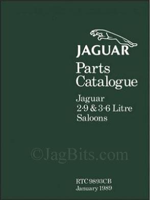 Jaguar Manual 1988-1989 XJ6 Parts Catalog
